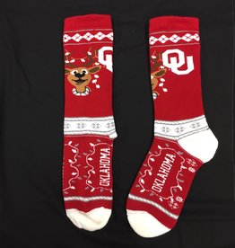 FBF Men's OU Christmas Sock (Shoe Size 10-13)