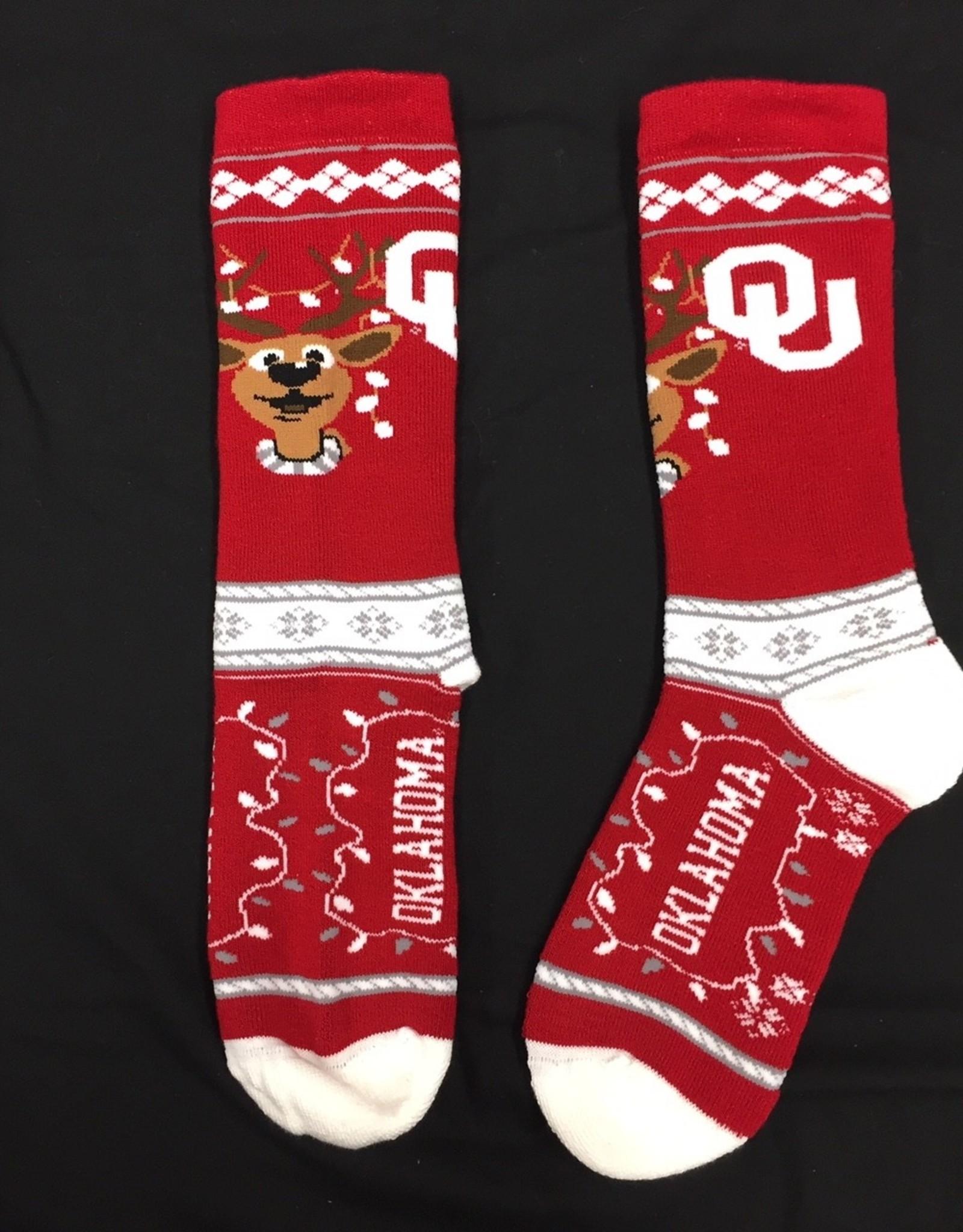 FBF Youth OU Christmas Sock (Shoe Size 3-6)