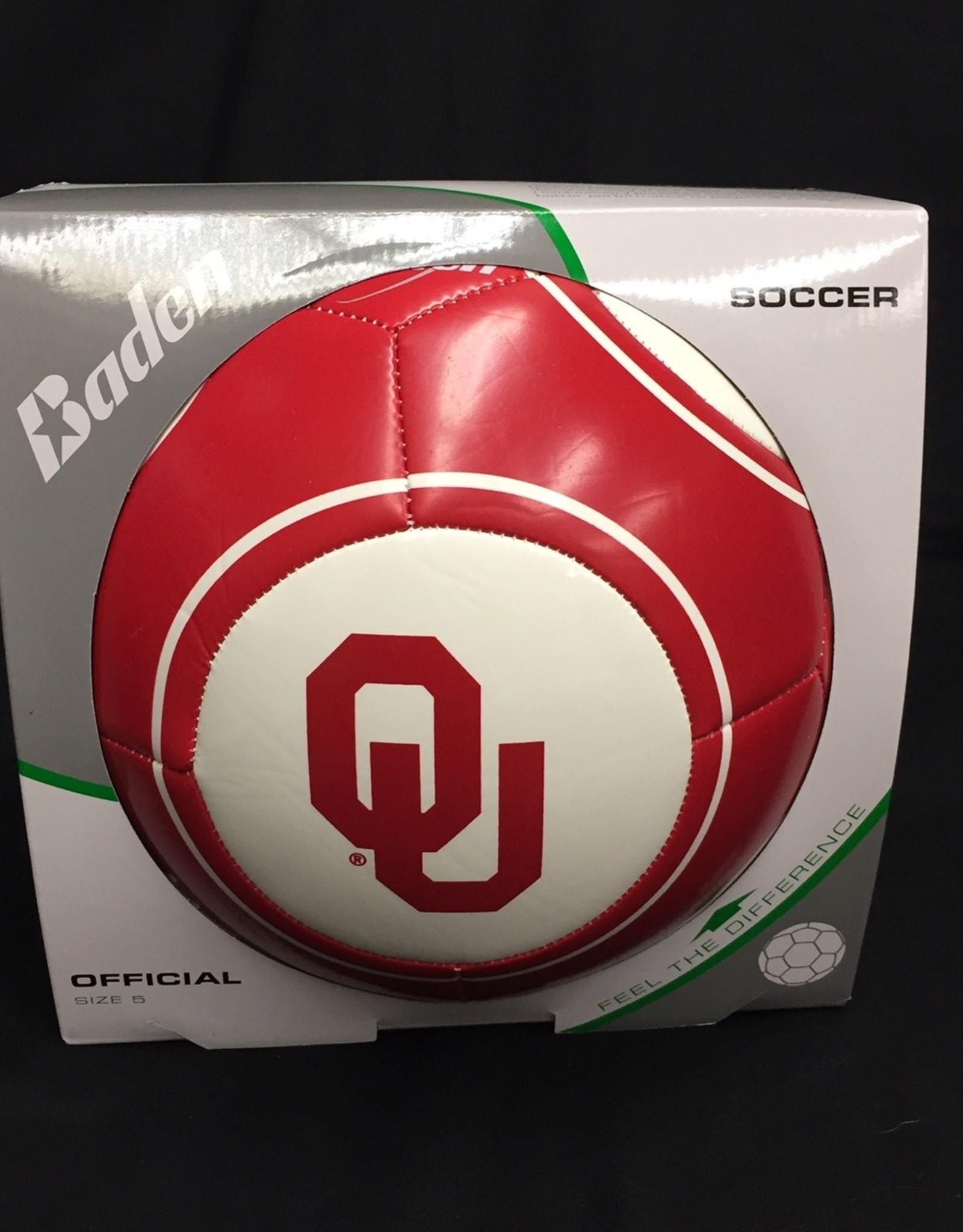 Baden OU  Soccer Ball Crimson & White Size 5