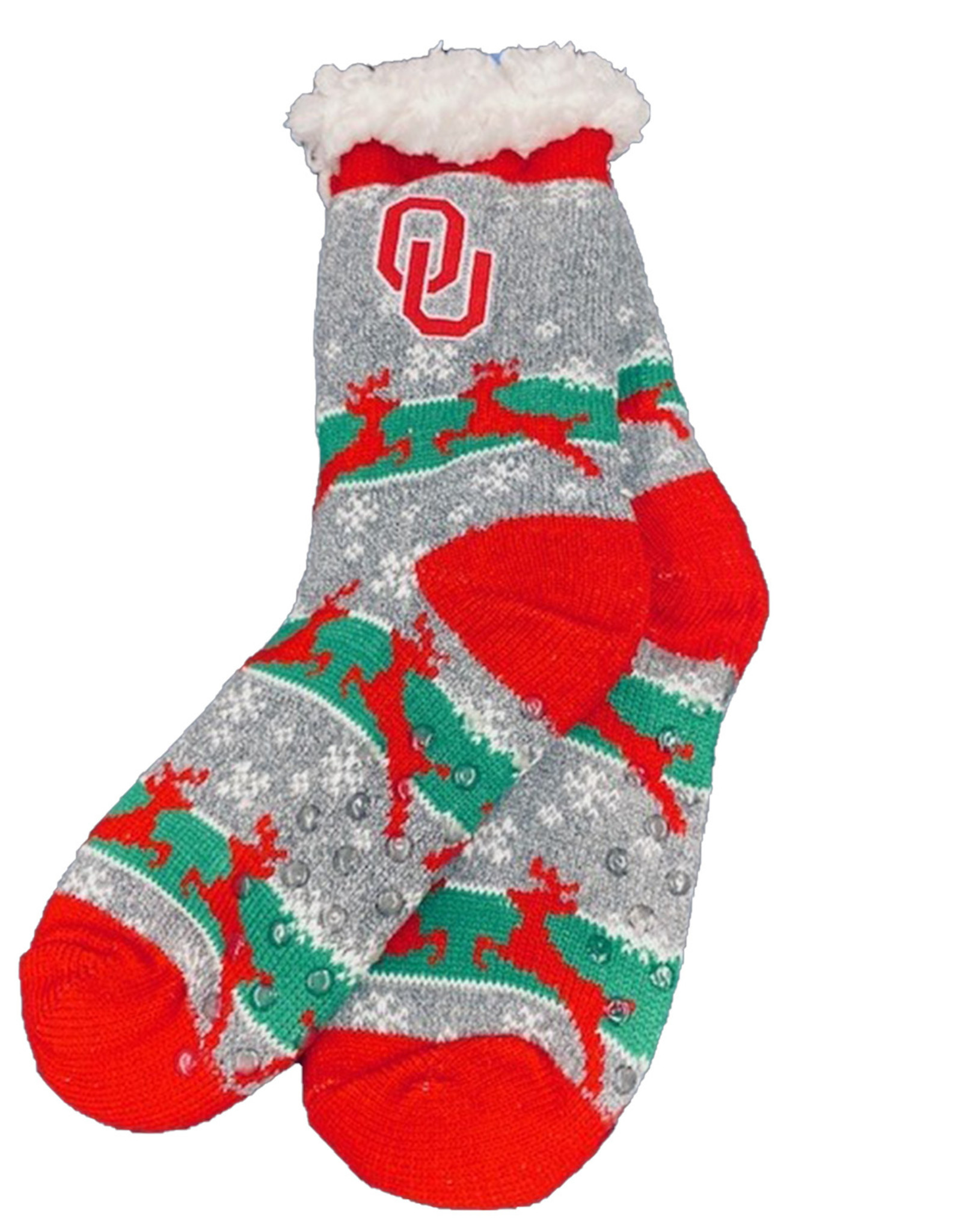FBF FBF OU Sherpa Christmas Sock W 6-11/M 5-10
