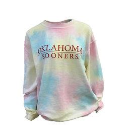 Chicka-d Women's Rainbow Tie-Dye Cored Sweatshirt
