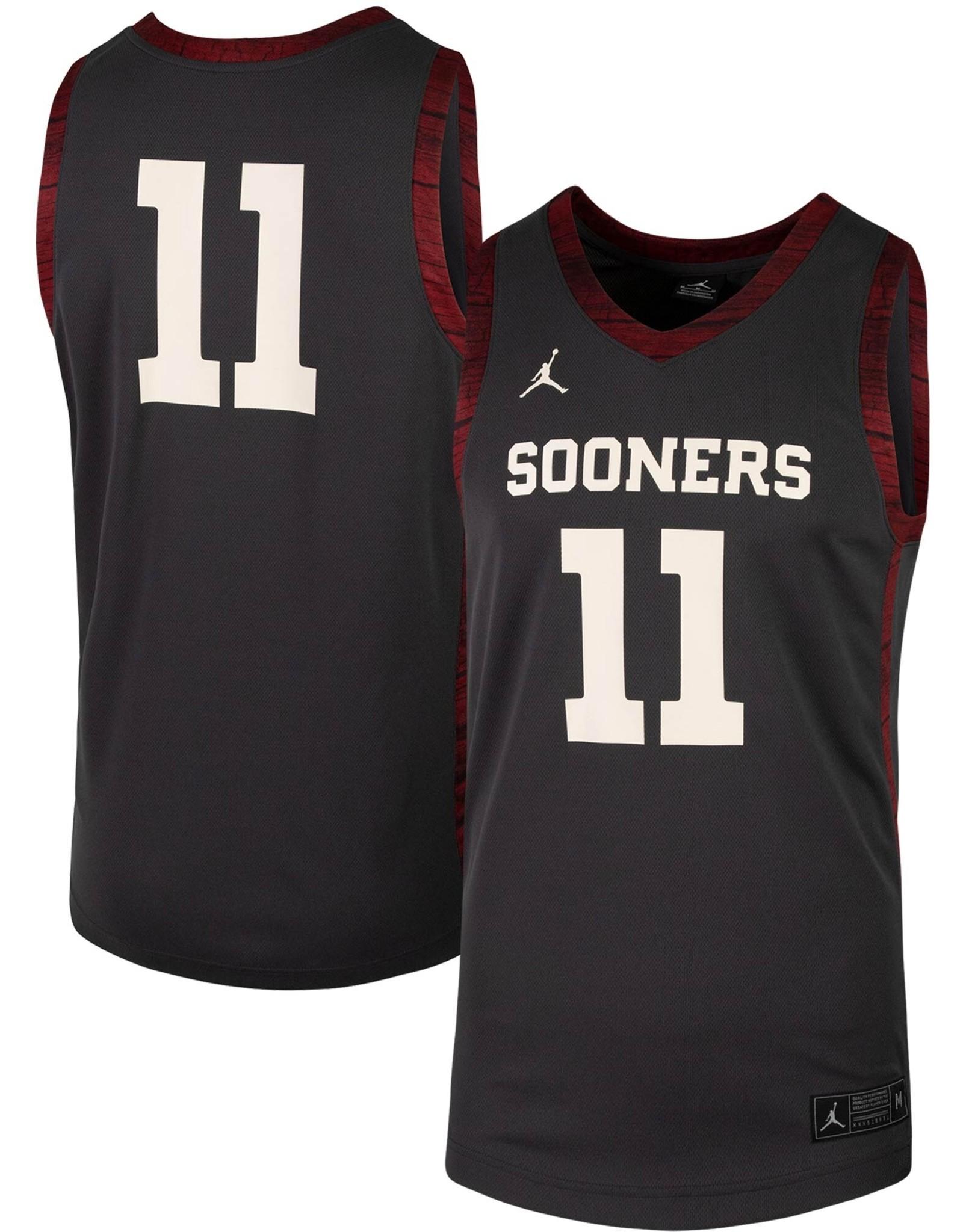 Jordan Men's Jordan Brand Alternative Basketball Jersey #11-Anthracite