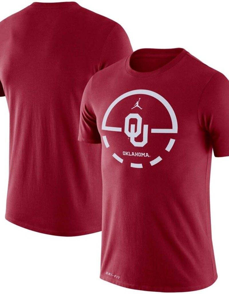 Jordan Men's Jordan Brand Oklahoma Basketball Key 2.0 Legend Dri-Fit Tee