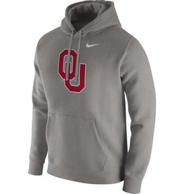Nike Men's Nike OU Dark Gray Heather Pull-over Club Fleece Hoodie