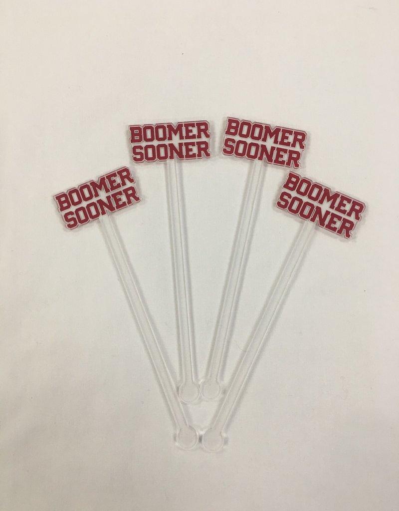 Acrylic Sticks Co. Acrylic Stir Sticks-BOOMER SOONER (pkg. or 4)