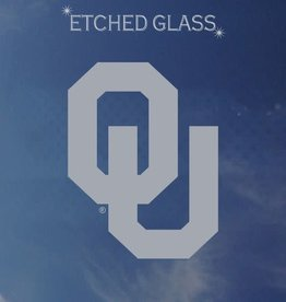 "Color Shock OU Etched Glass Look Auto Decal 4.7""X3.5"""