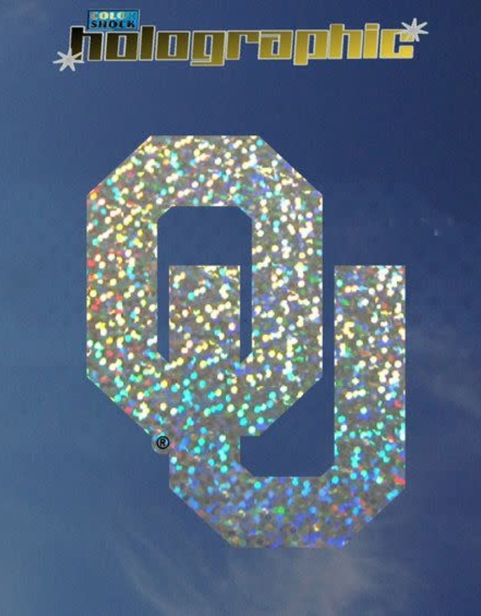 """Color Shock OU Full Holographic Auto Decal 4.6""""x3.5"""""""