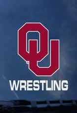 "Color Shock OU Wrestling Auto Decal 3.5""x3.6"""
