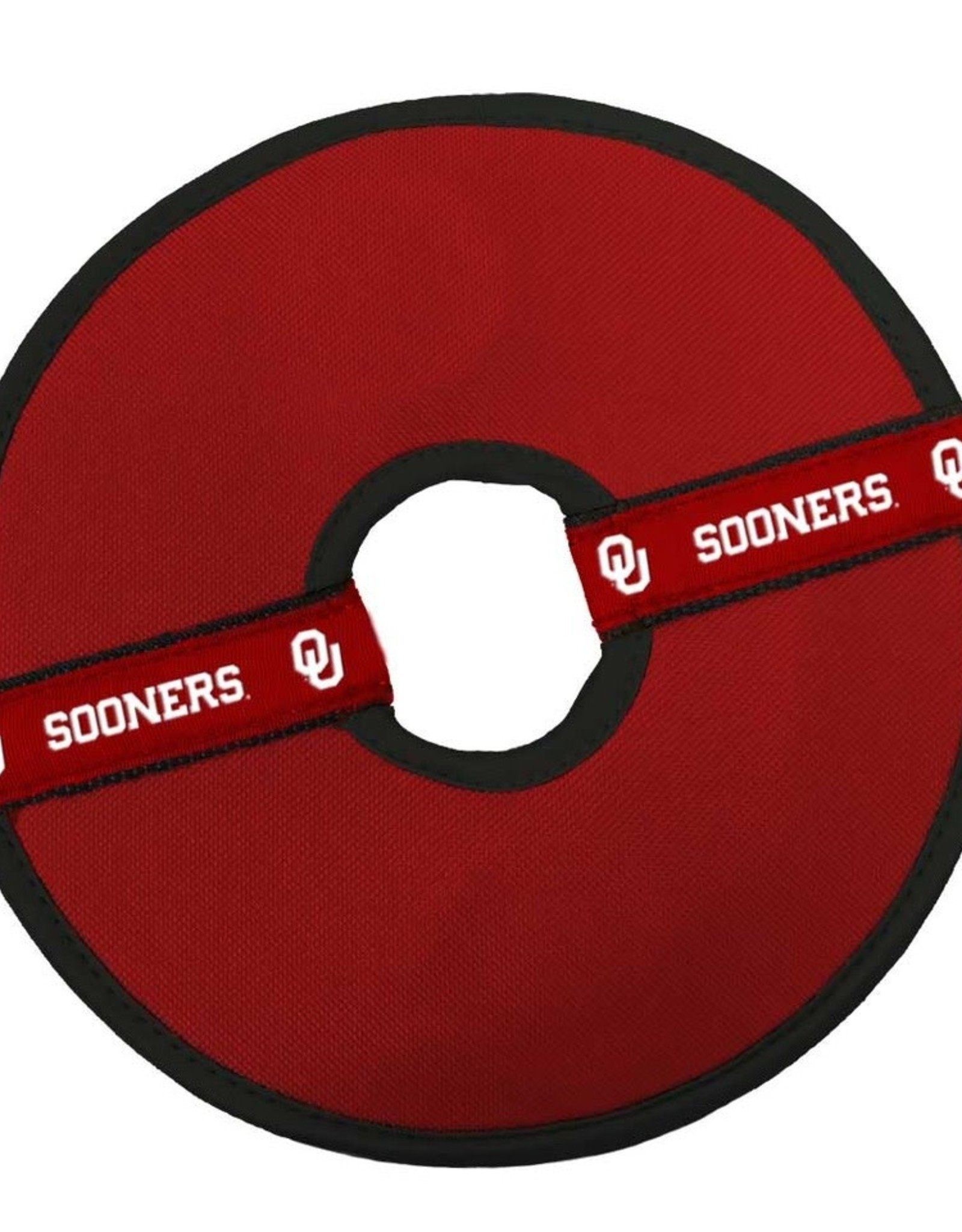 """All Star Dogs Oklahoma Sooners 8"""" Flying Disc Dog Toy"""