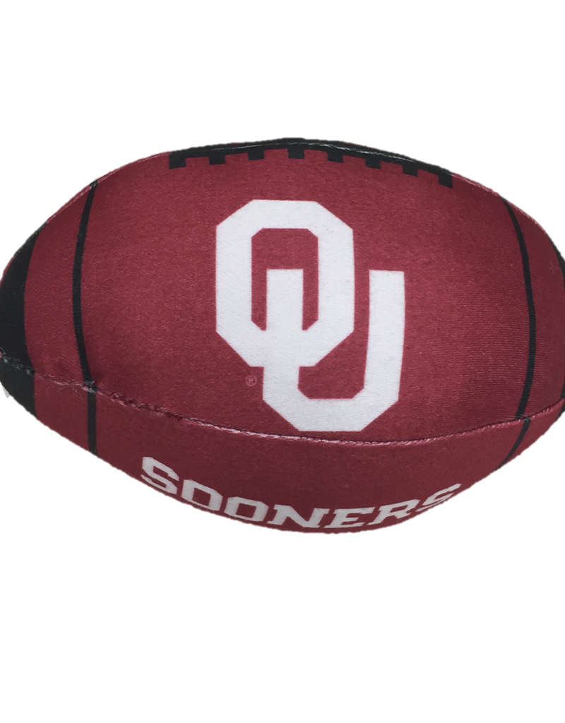 """All Star Dogs OU Sooners Football Squeak Toy (8""""x4"""")"""