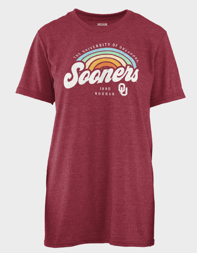 Pressbox Women's Pressbox Sooners Sunrise Script Tee