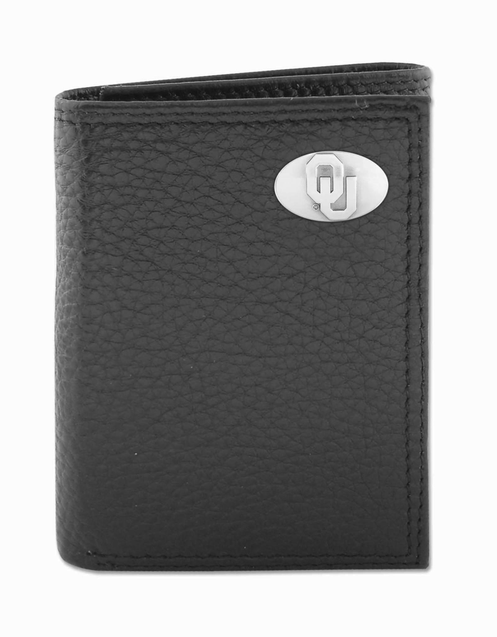 Zep-Pro Zep-Pro Black Pebble Grain Trifold Wallet