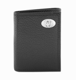 Zep-Pro Zep-Pro Black Pebble Grain Trifold Wallet