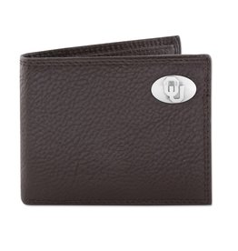 Zep-Pro Zep-Pro Brown Pebble Grain Passcase Wallet