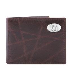Zep-Pro Zep-Pro Brown Wrinkle Passcase Wallet