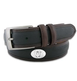 Zep-Pro Men's OU Concho Belt Black with Brown Trim by Zep-Pro (BBLPS-BLK)