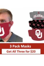WinCraft OU Face Masks-3pk