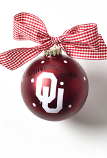 Coton Colors Coton Colors University Of Oklahoma Glass Ornament