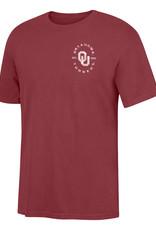 TOW Men's TOW OU/Schooner Pigment Dyed Crimson SS Tee