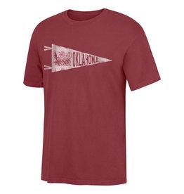 TOW Men's TOW Pennant/Schooner Pigment Dyed Crimson SS Tee