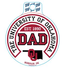Blue 84 Blue 84 OU Dad Sticker