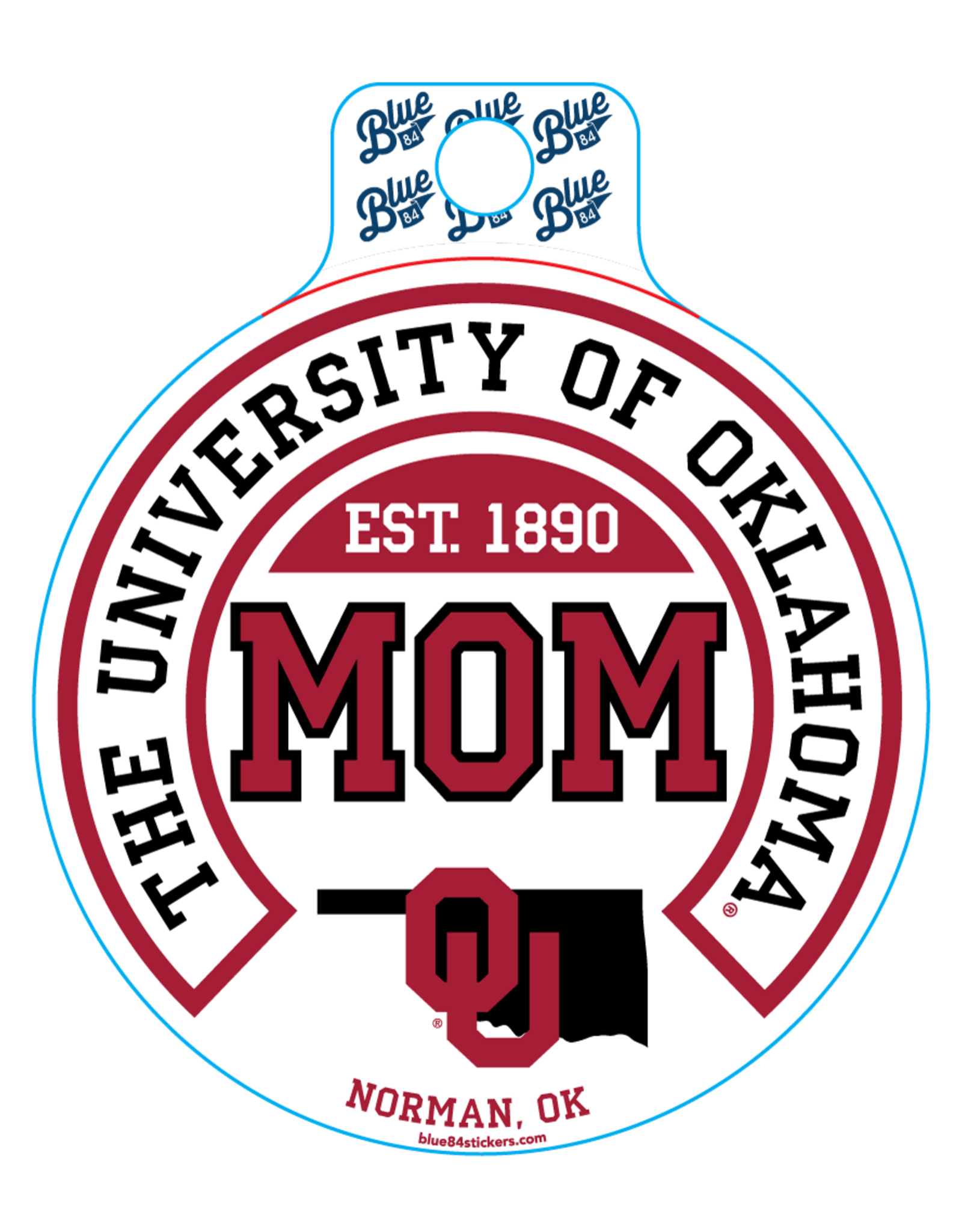 Blue 84 Blue 84 OU Mom Sticker