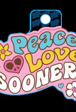 Blue 84 Blue 84 Peace, Love, & Sooners Sticker