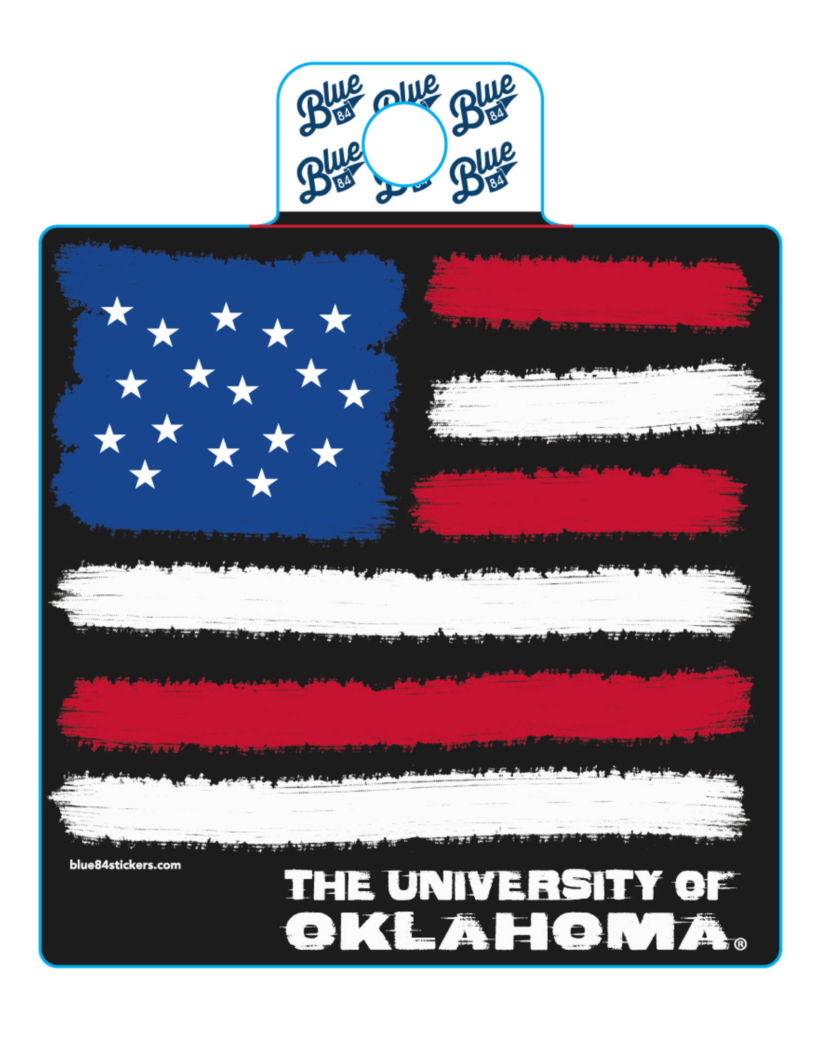 Blue 84 Blue 84 OU American Flag Sticker