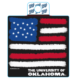 Blue 84 Blue 84 OU American Flag Sticker