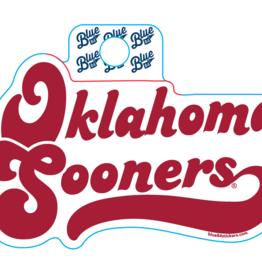 Blue 84 Blue 84 Retro Oklahoma Sooners Sticker