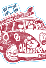 Blue 84 Blue 84 Retro OU Bus Sticker