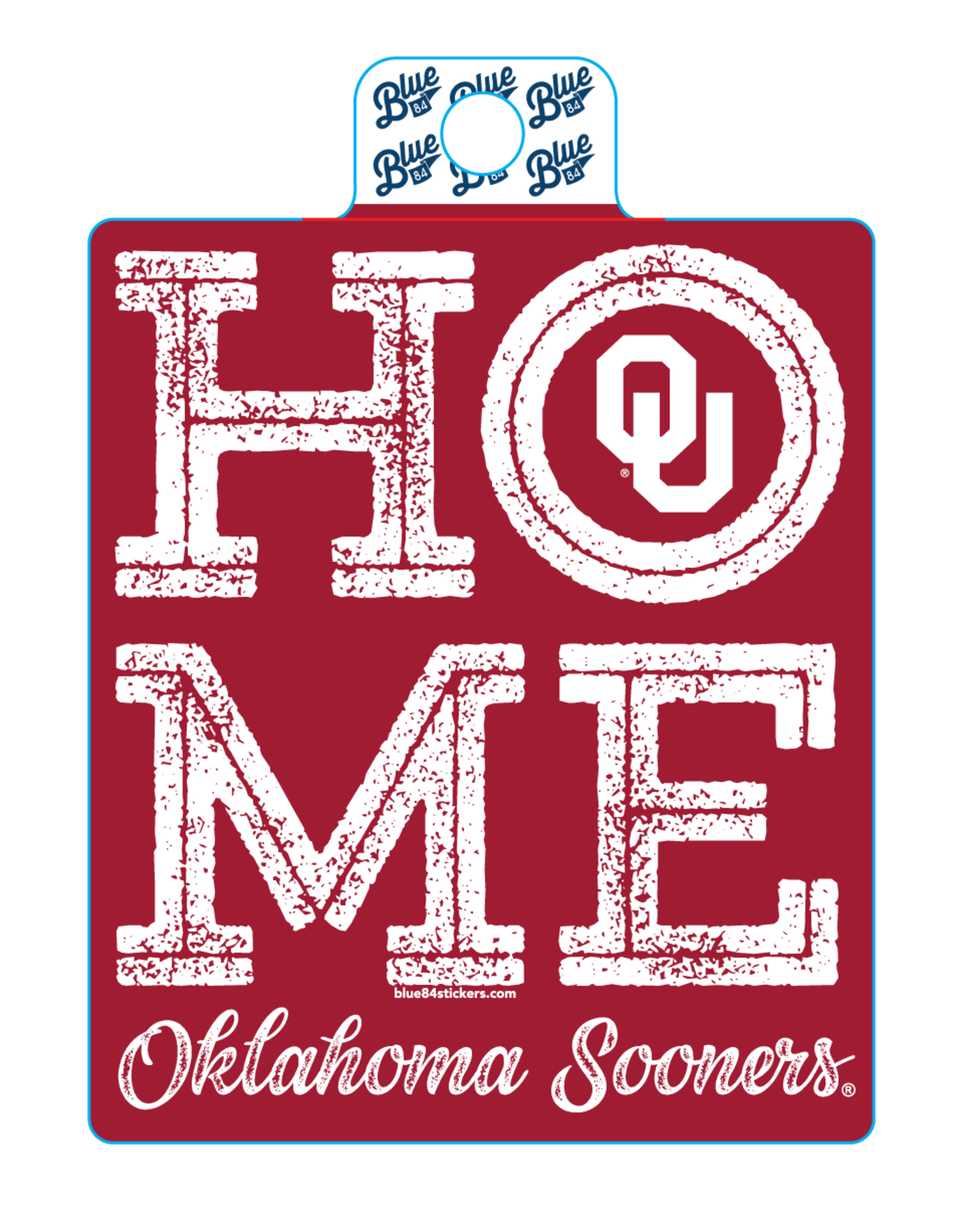 Blue 84 Blue 84 OU Home Sticker