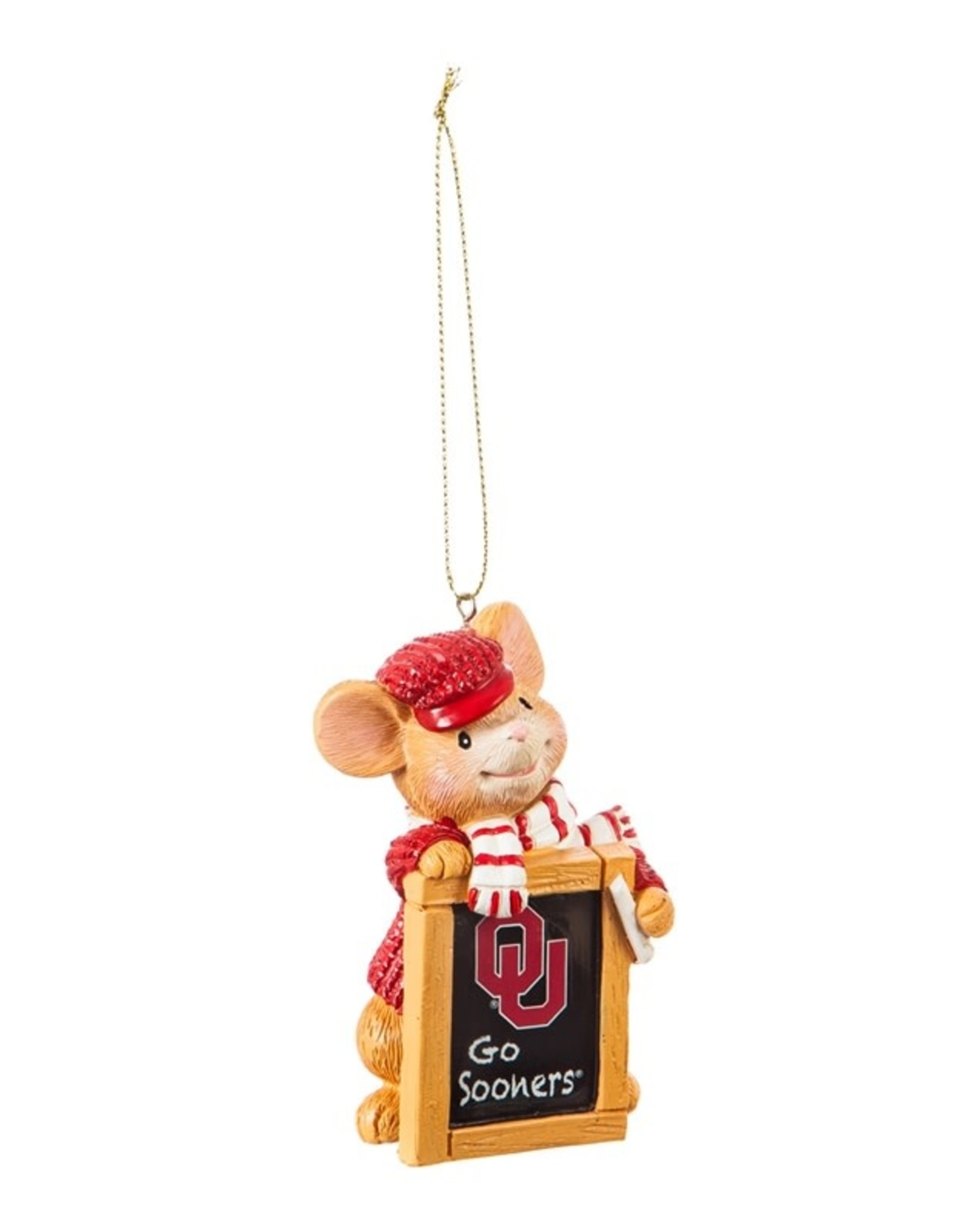 Team Sports America OU Holiday Mouse Ornament
