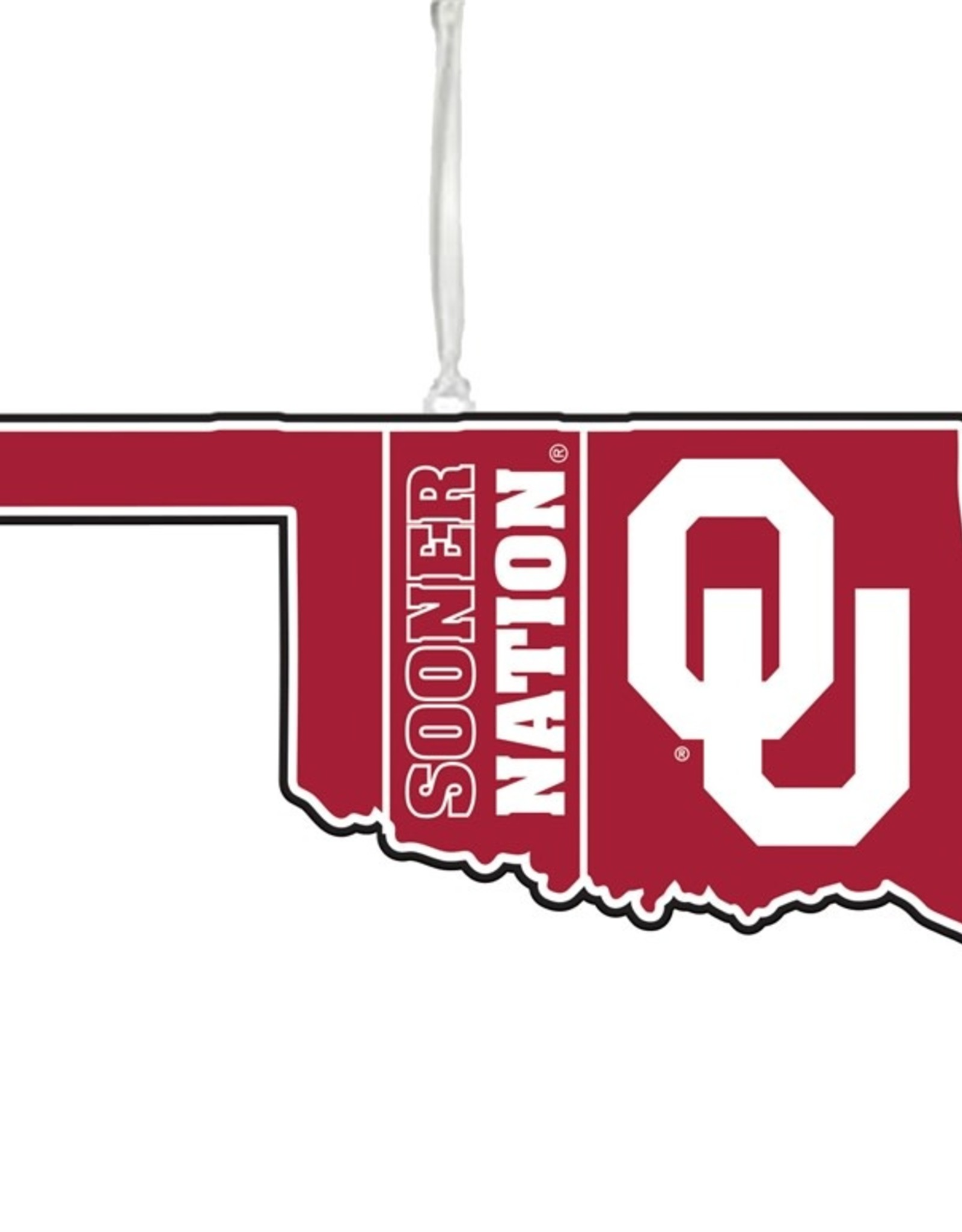 Team Sports America OU Sooner Nation State Shape Ornament