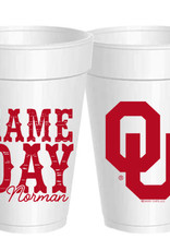 Sassy Cups 16oz Gameday in Norman Styrofoam Cup (10 pack)