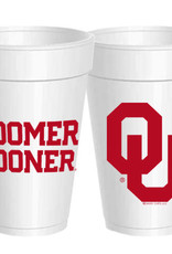 Sassy Cups 16oz Boomer Sooner Styrofoam Cup (10 pack)