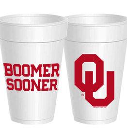 Sassy Cups 16oz Boomer Sooner Styrofoam Cup (10 pack)