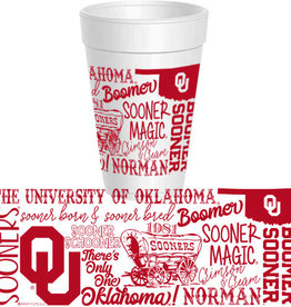 Sassy Cups 16oz OU Wrap Design Styrofoam Cup (10 pack)