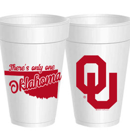 Sassy Cups 16oz Only One Oklahoma Styrofoam Cup (10 pack)