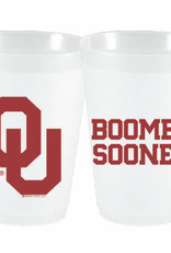 Sassy Cups 16oz Boomer Sooner Frost Flex Plastic Cup (10 pack)