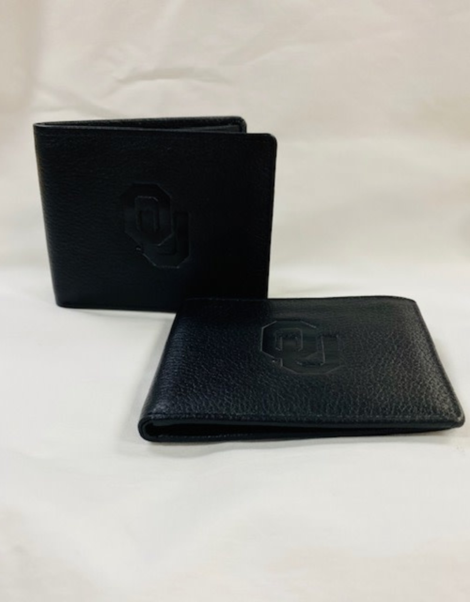 Canyon Leather OU Bryce River Canyon Bi-Fold Black Leather Wallet