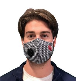 Distanz Health Mask OU Ecotec Gingham Mask ADULT