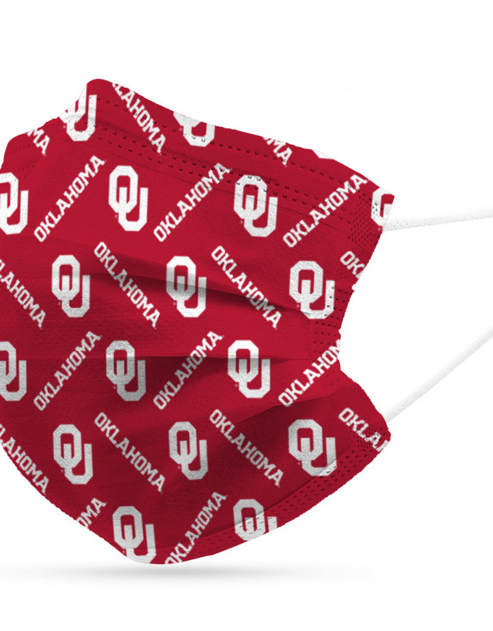 Logo OU Disposable 3-Layer Face Mask (6 pack)