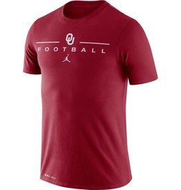Jordan Men's Jordan Crimson OU Football Icon Word Dri-Fit Cotton Tee