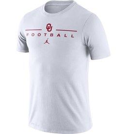 Jordan Men's Jordan White OU Football Icon Word Dri-Fit Cotton Tee