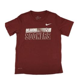 Nike Youth Nike Dri-Fit Legend S/S OU Sooner Crimson Tee