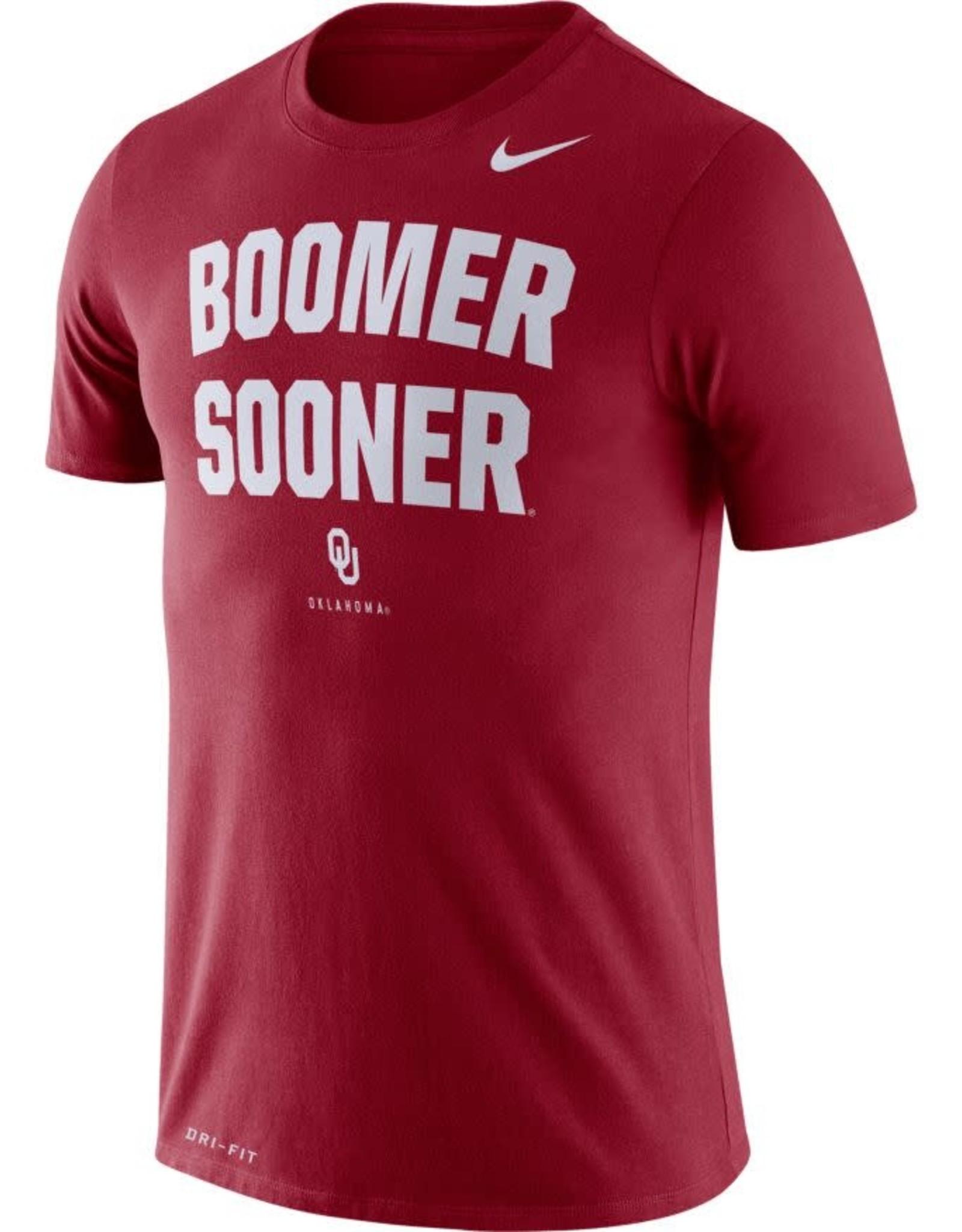 Nike Men's Nike Dri-Fit Cotton Boomer Sooner Phrase Tee Crimson