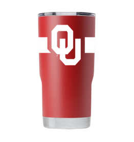 GameTime Sidekics Oklahoma 20oz Crimson Stainless Steel Tumbler