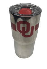 GameTime Sidekics Oklahoma 20oz Chrome Stainless Tumbler