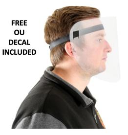 Plastic Face Covering Shield w/ Velcro Strap